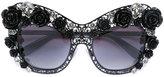 Dolce & Gabbana lace bouquet sunglasses - women - Acetate/metal/glass - One Size