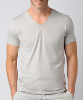 Naked Gray Fitted V-Neck Tee