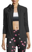 Beyond Yoga kate spade new york bow-neck sport jacket, black
