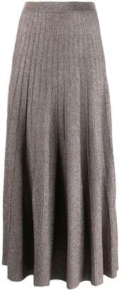 Joseph Glitter-Effect Pleated Skirt