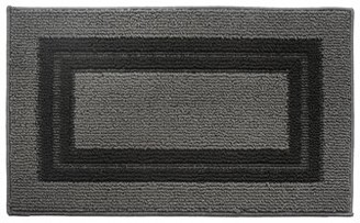 """Attraction Design Home Gray/Black Area Rug Rug Size: 1'6"""" x 2'6"""""""