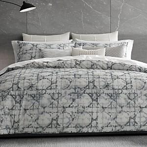 Vera Wang Layered Geometric Duvet Cover, Queen