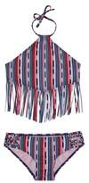 Gossip Girl Girl's Desert Stripe Two-Piece Swimsuit