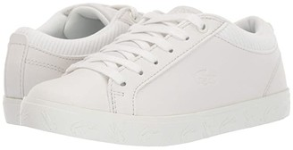 Lacoste Kids Straightset 319 4 (Little Kid) (Off-White/Off-White) Kid's Shoes