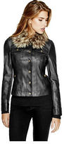 GUESS Women's Leema Faux-Leather Jacket