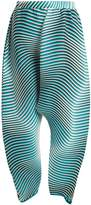 Issey Miyake Flow Cosmic pleated dropped-crotch trousers