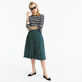 J.Crew Double-pleated midi skirt in shadowbox print