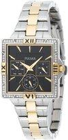 Pulsar PYR046 Women's dial Two Tone Swarovski Crystals Watch