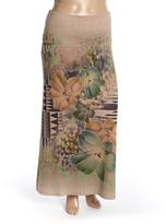 Beige Geo Floral Maxi Skirt - Plus