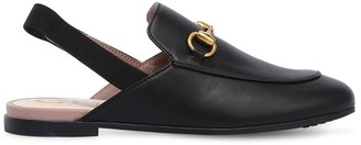 Gucci Horsebit Smooth Leather Mules