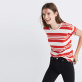 Madewell Whisper Cotton Crewneck Tee in Rampling Stripe