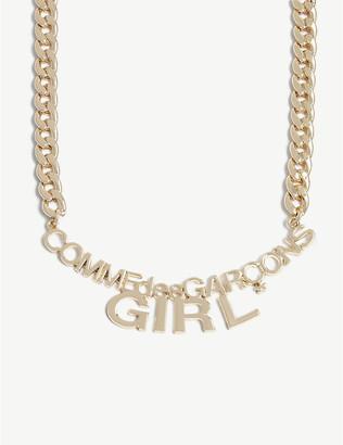 COMME DES GARÇONS GIRL Curb chain logo necklace