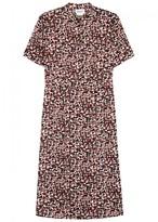 DKNY Printed Satin Dress