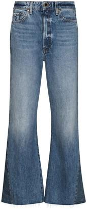 KHAITE Layla cropped-leg flared jeans