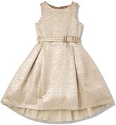 Marie Chantal GirlsGold Jacquard Party Dress
