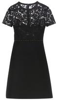 Valentino Embellished Wool And Silk Mini Dress