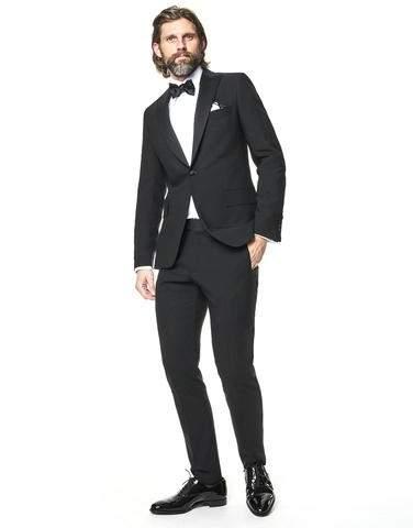 Todd Snyder Sutton Peak Lapel Tuxedo Jacket in Black Italian Wool