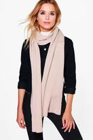 Boohoo Kara Super Soft Extra Long Knit Scarf