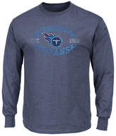 Profile Men's Tennessee Titans Print Logo Long Sleeve Big & Tall T-Shirt