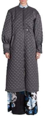 Off-White Quilted Tech Puff-Sleeve Coat