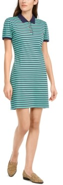 Maison Jules Striped Polo Dress, Created for Macy's