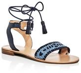 Jack Rogers Tate Raffia Ankle Tie Sandals