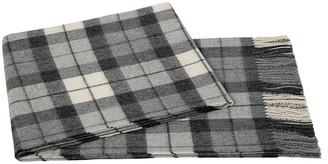 A & R Cashmere Plaid Alpaca Wool Throw - Gray/Cream - a&R Cashmere