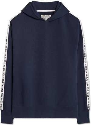 Tory Burch French Terry Banner Hoodie