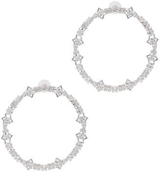Fallon Jagged Edge Crystal-embellished Hoop Earrings