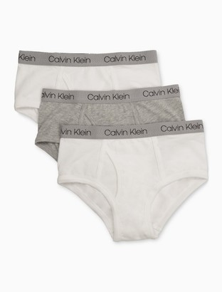Calvin Klein Big Boys 3-Pack Cotton Stretch Logo Briefs