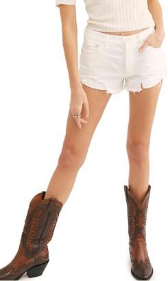 Free People Loving Good Vibrations Cutoff Denim Shorts