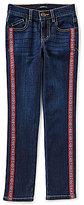 Takara Big Girls 7-16 Floral-Trim Skinny Jeans