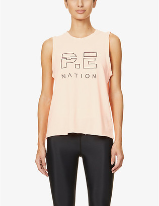 P.E Nation Shuffle Twist organic cotton-jersey vest top