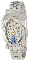 Brillier Women's 18-03 Royal Plume Peacock Inspired Swiss Genuine Gemstones Watch