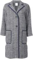 Agnona woven single breasted coat