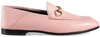 Gucci Pink Brixton Leather loafers
