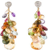 Marco Bicego Multistone & Diamond Cluster Earrings