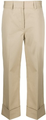 Prada Turn-Up Cropped Trousers