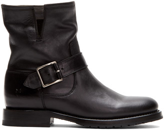 Frye Women's Casual boots BLACK - Black Natalie Engineer Short Leather Boot - Women