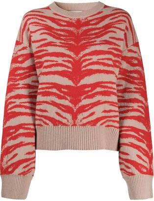 Laneus Tiger-Jacquard Sweater
