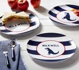 Pottery Barn Kids Navy Stripe Plates, Perzonalized Stripe