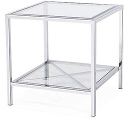 Blink Home Gardner End Table with Storage Table Base Color: Silver