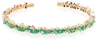 Suzanne Kalan 18kt yellow gold Fireworks emerald frenzy bracelet
