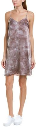 Atm Tie-Dye Silk Slip Dress