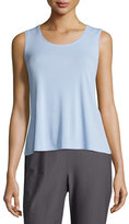 Eileen Fisher Stretch Silk Jersey Tank, Iris