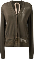 No.21 lace-detail cardigan - women - Silk/Polyester/Acetate/Viscose - 38