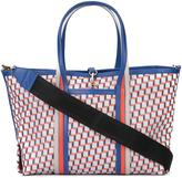 Pierre Hardy geometric print tote - unisex - Calf Leather/Canvas - One Size