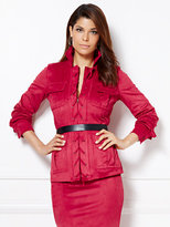 New York & Co. Eva Mendes Collection - Julianne Ultra-Suede Lace-Up Jacket