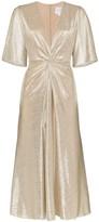 Galvan Stella twist-detail midi dress