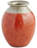 Pier 1 Imports Patina Red & Silver Terracotta Vase